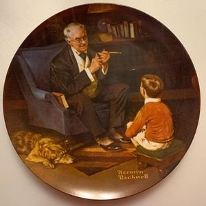 Rockwell collector fine china  plate l